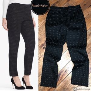 WHBM Curvy Dot Slim Ankle Pants *NWOT*